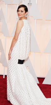 Marion Cotillard Oscars Red Carpet 2015 - back