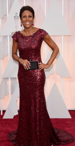 Robin Roberts Oscars 2015 red Carpet