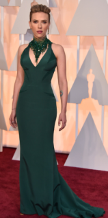 Scarlett Johansson Oscars 2015 Red Carpet