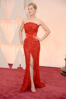 Rosamund Pike Oscar 2015 red Carpet